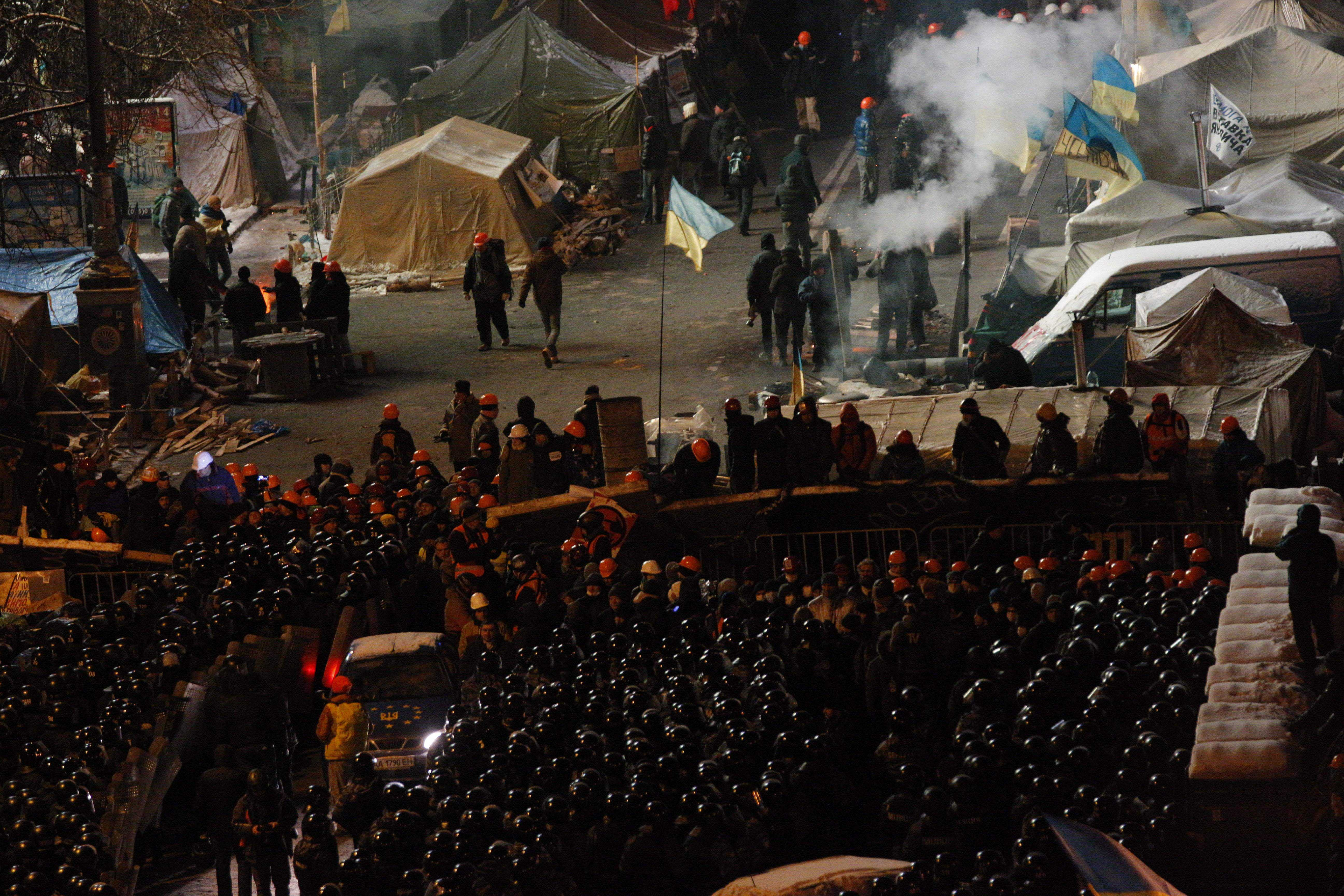 In the center of Kiev began clashes of dissatisfied citizens with the police 17.10.2017 26