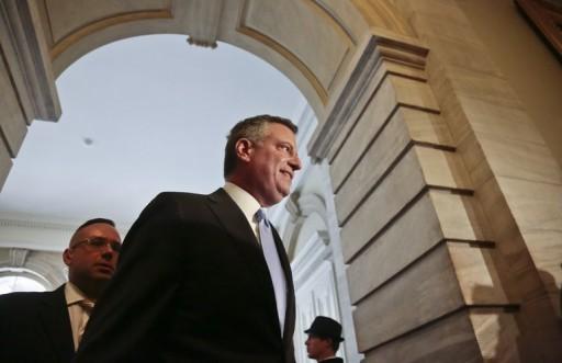 AP FILE - New York City Mayor-elect Bill de Blasio