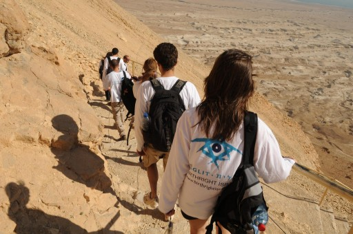 FILE - A group of American students visit Israel trough a Birthright sponsorship