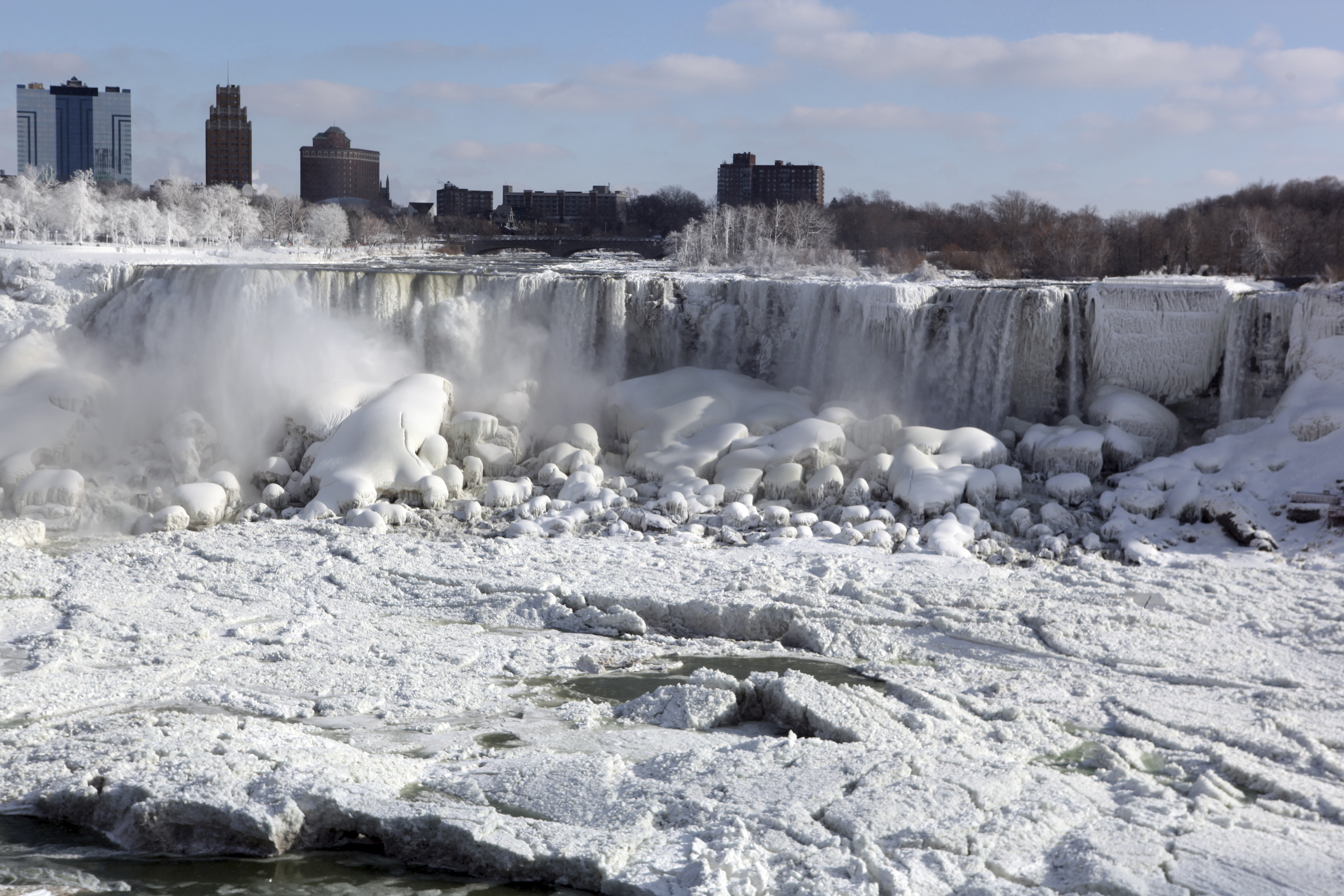 Niagara Falls, NY - IN PHOTOS: Polar Vortex Freezes ...