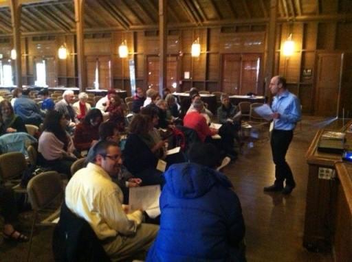 FILE - Rabbi Daniel Roth speaking at Limmud Bay Area