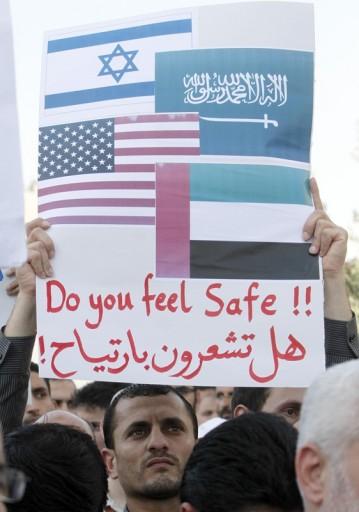 File photo of Brotherhood movement protesters against Egyptian Defense Minster Abdul Fattah Al-Sisi. EPA/JAMAL NASRALLAH