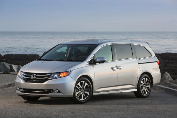This undated photo provided by Honda shows the 2014 Honda Odyssey. (AP Photo/Honda)