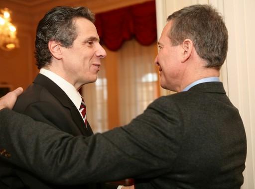 File: Governor Cuomo in Albany with New York attorney general Eric Schneiderman. (Photo Credit: Gov. Cuomo Photo Stream)