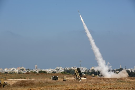 FILE - An Israeli Iron Dome defense system missile is fired to intercept a rocket fired from Gaza over the city of Ashdod, southern Israel, 08 July 2014.  EPA