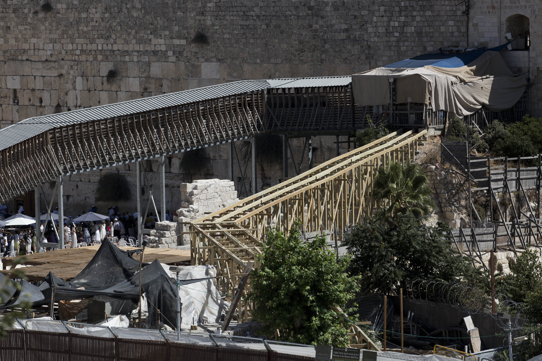 Jerusalem Israel To Remove Disputed Footbridge In Jerusalem