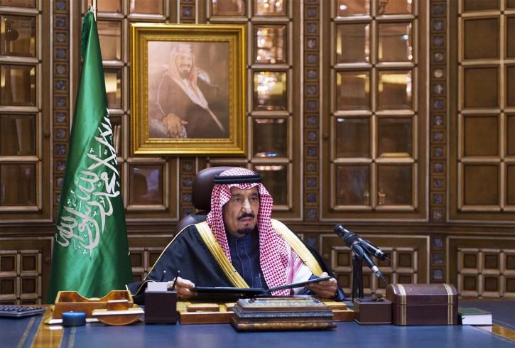 A handout photo released by the Saudi Press Agency SPA 23 January 2015 shows the new King of Saudi Arabia, Salman bin Abudlaziz al-Saud, as he addresses the nation for the first time as king, 23 January 2015. EPA/HO