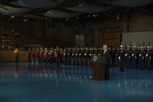 File: Defense Secretary Chuck Hagel speaks during the Armed Forces Tribute in Arlington, Va., Jan. 28, 2015.(Photo by Master Sgt, Adrian Cadiz)