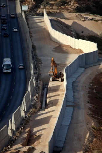 File: A section of Israel's separation barrier in the West Bank town of Bethlehem, on 20 October 2010. EPA/IYAD AL HASHLAMOUN