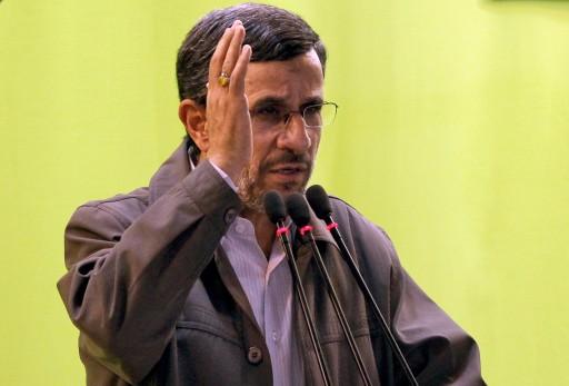 Former Iranian President Mahmoud Ahmadinejad delivers a speech during an anti-Israeli rally, in Tehran, Iran, 02 August 2013. EPA/ABEDIN TAHERKENAREH