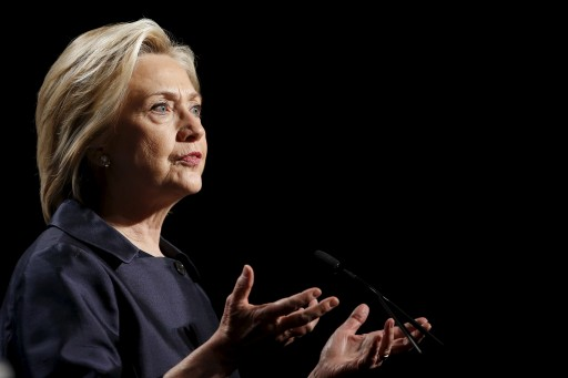 Democratic U.S. presidential candidate and former Secretary of State Hillary Clinton addresses the U.S. Conference of Mayors Annual Meeting in San Francisco June 20, 2015. REUTERS/Stephen Lam