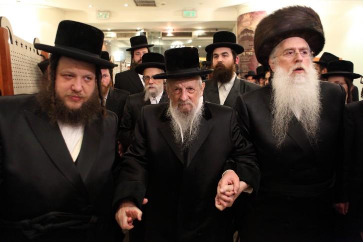 FILE - The rebbe of the Seret-Vizhnitzer chasidic dynasty, Rabbi Eliezer Hager on January 12, 2012. Photo by Yaakov Naumi/Flash90