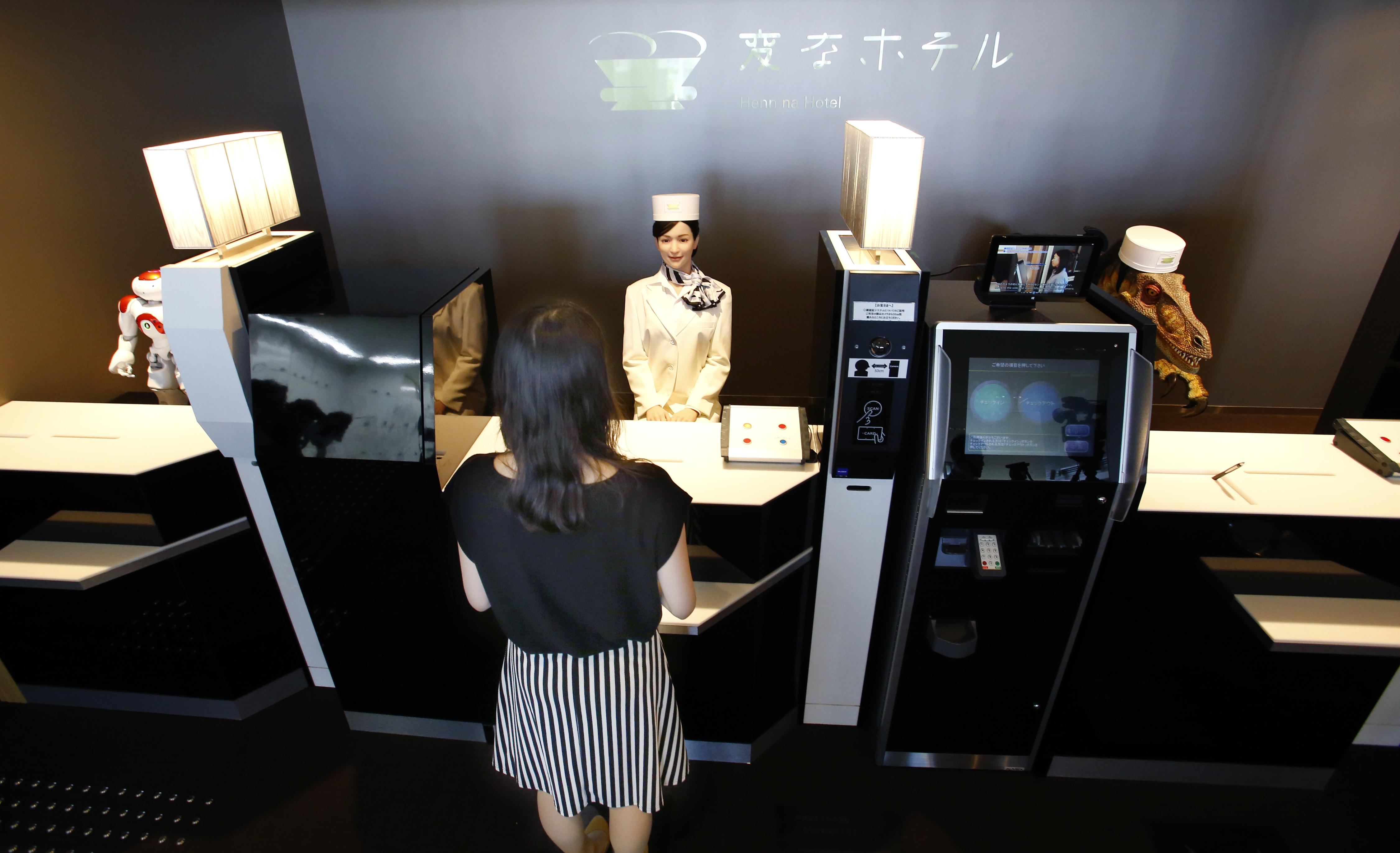 Sasebo Japan Robots Do Check In And Check Out At Cost