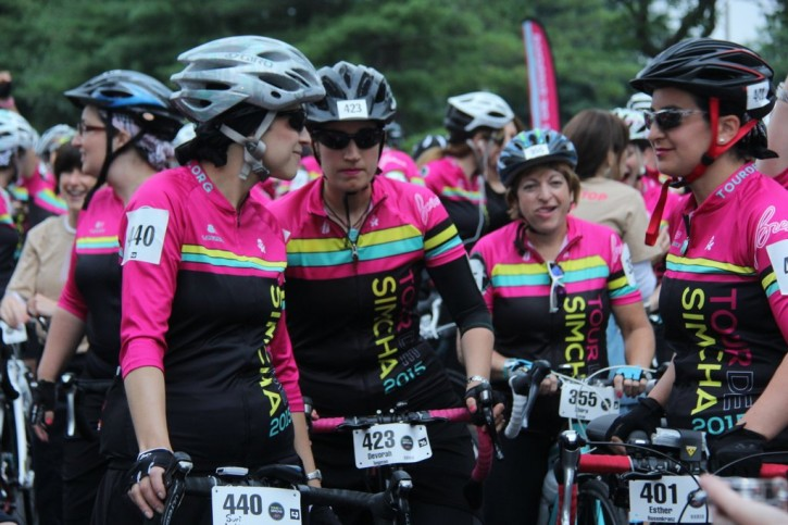 At the start line early tis motrning in Woodcliff Lake, NJ (Shimon Gifter/VINnews.com)