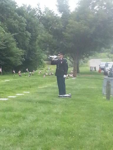 Military personnel attending the funeral. (Photo: Rabbi Jonathan Gewirtz)