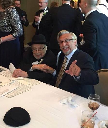 Rabbi Muschel with his nephew Mark Meyer Appel  June 21, 2015