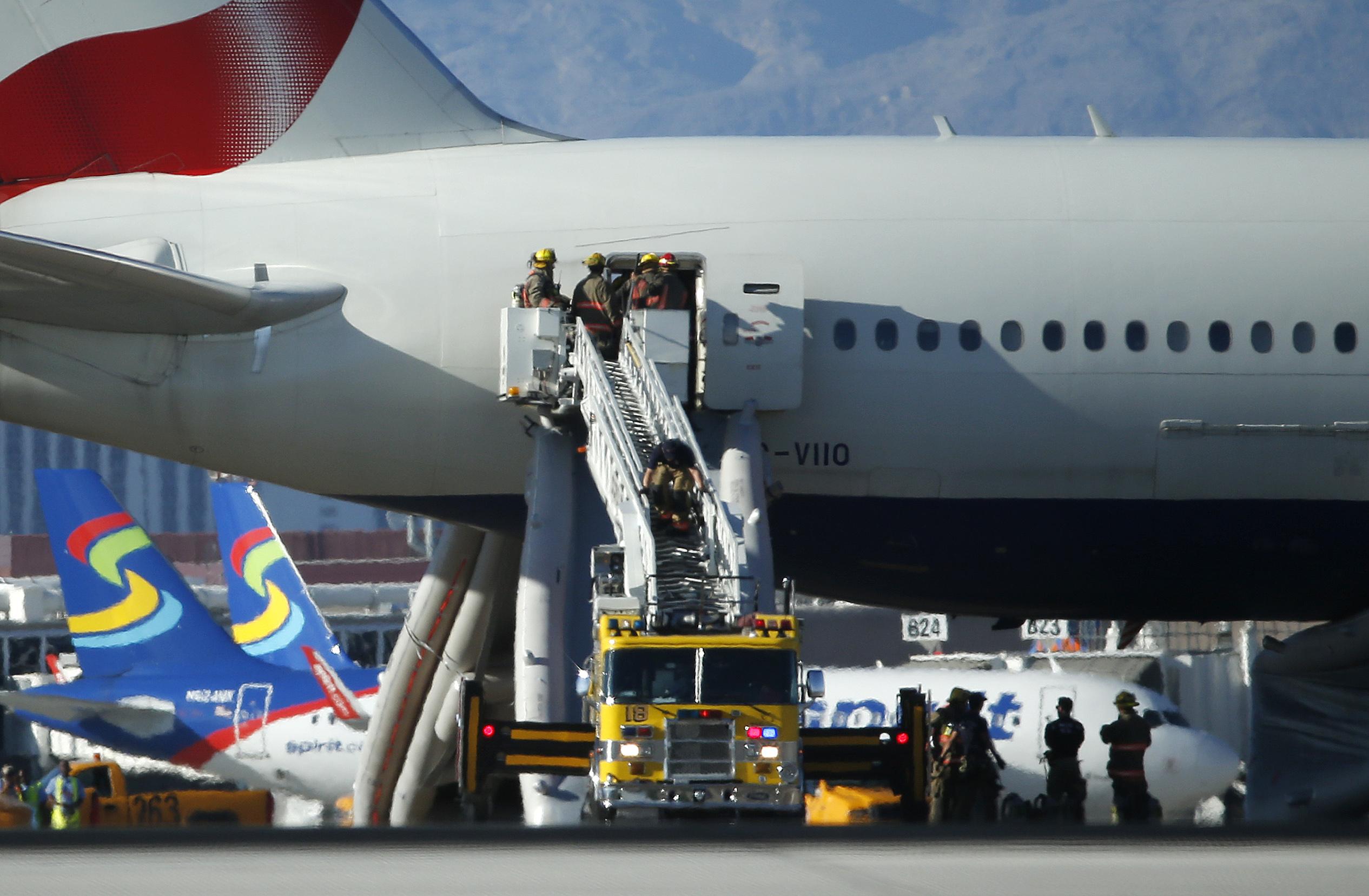 Las Vegas British Airways Flight Catches Fire At
