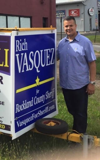 Vasquez is slated to face off against Democratic incumbent Sheriff James Falco in a heated contest taking place in adjacent Rockland County
