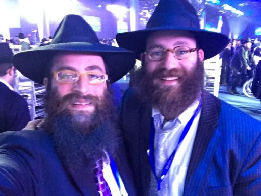 Rabbi Shmuli Brown (R)