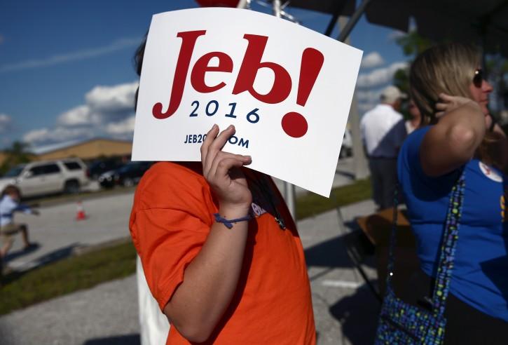 Tampa, FL – Bush Hits Campaign Reset, Retools Slogan: 'Jeb Can Fix It'