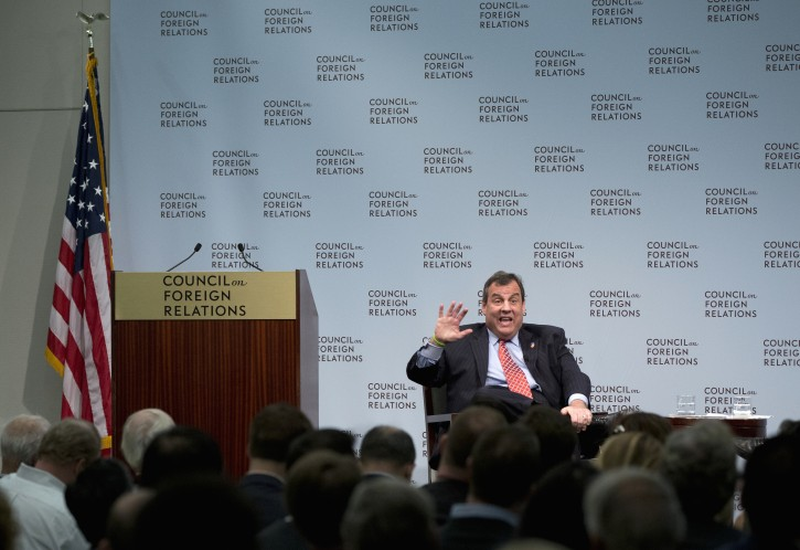 Republican presidential candidate, New Jersey Gov. Chris Christie speaks at the Council on Foreign Relations in Washington, Tuesday, Nov. 24, 2015. (AP Photo/Carolyn Kaster)