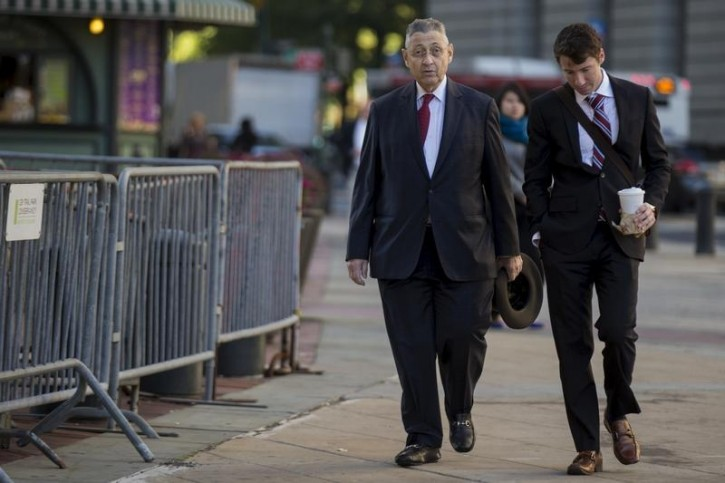 Former New York State Assembly Speaker Sheldon Silver exits the Manhattan U.S. District Courthouse in New York, November 3, 2015. REUTERS