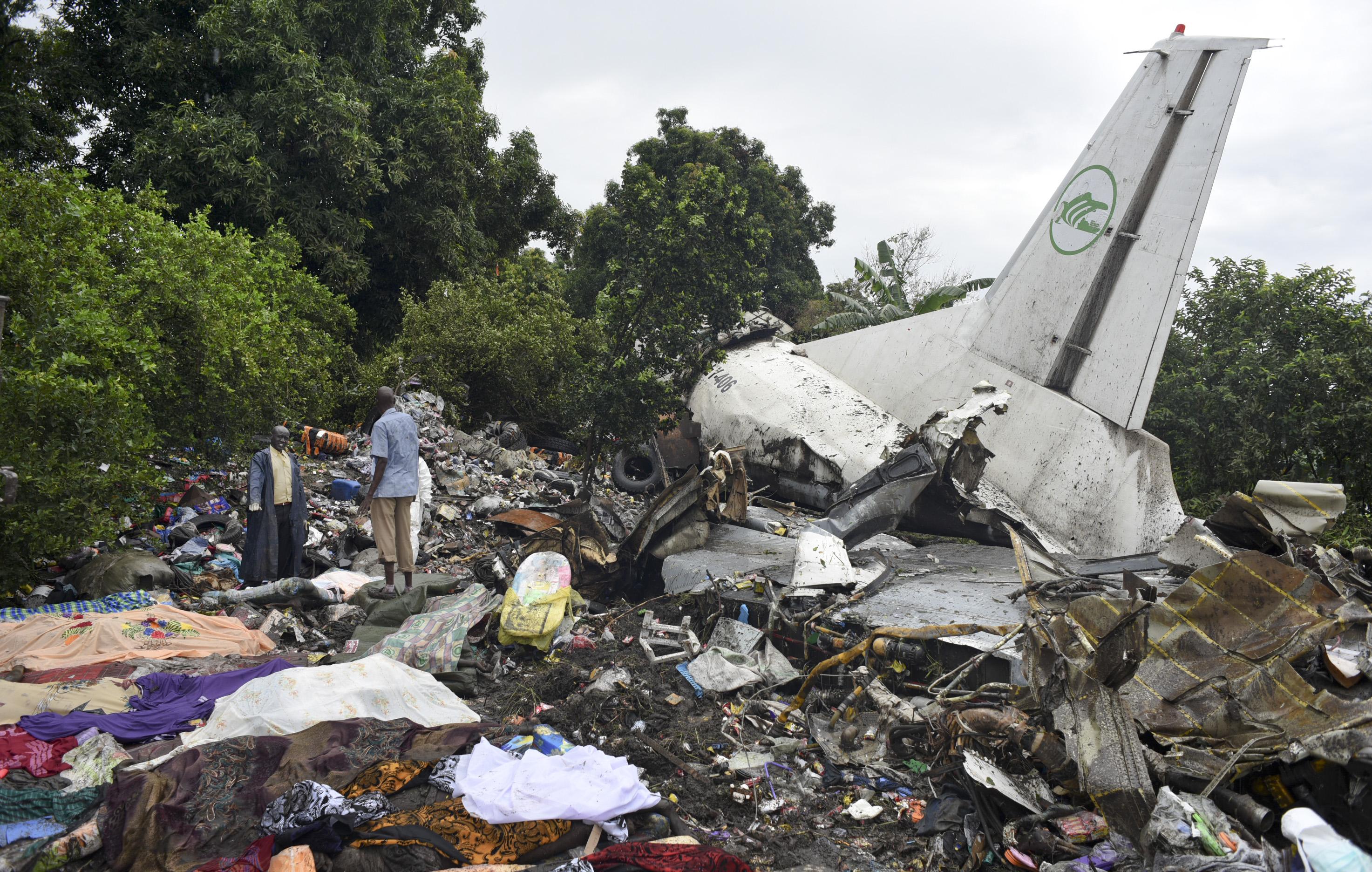 Juba, South Sudan - Cargo Plane Crashes Along Nile River In South Sudan