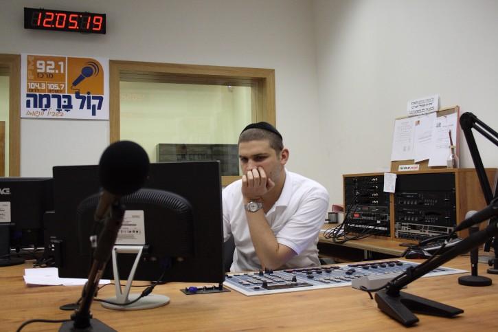 FILE - The broadcasting studio of the orthodox radio station Kol Barama. July 01, 2009. (Yaakov Naumi/Flash90.)