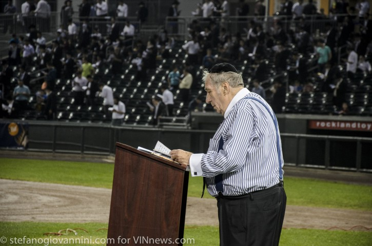 FILE - Rabbi Ronnie Greenwald is seen in Rockland County Provident Bank Park on June 19, 2014 at a mass Prayer event for the 3 isreali boys Naftali Frenkel, Gilad Shaar and Eyal Yifrach who where kiddnapoed and later found murderd by Palesistine terrorists.