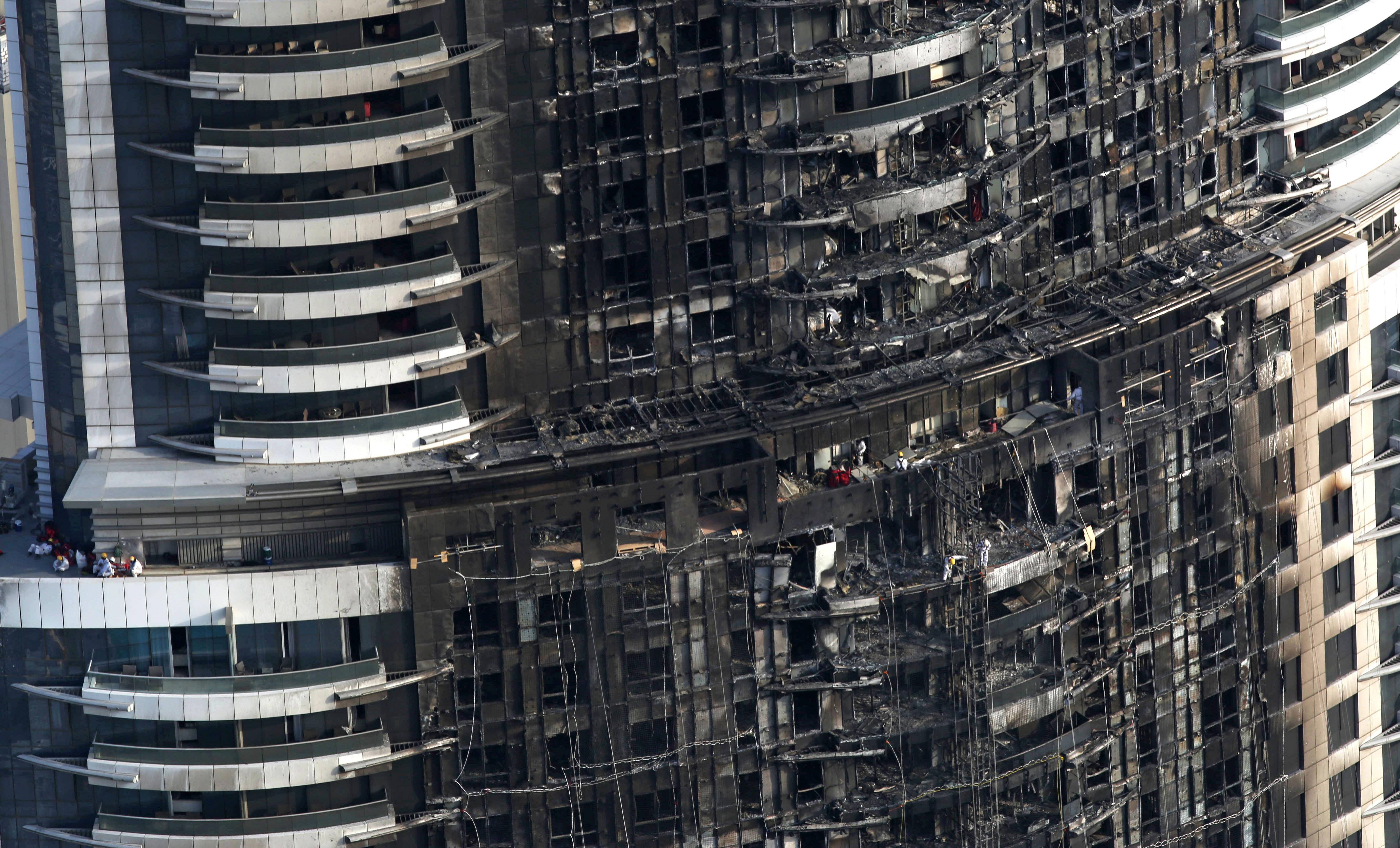 Dubai dubai tower blaze shows risks in common building for New hotels in dubai 2016