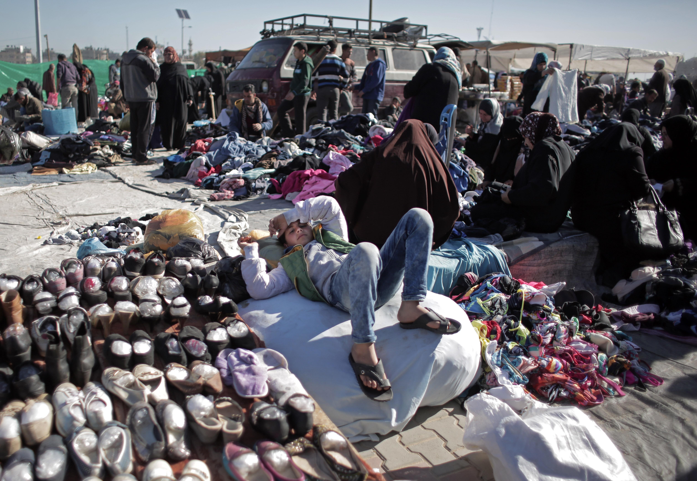 Gaza strip refugees