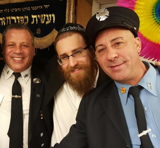 Lieutenant Ralph Tufano, Rabbi Friedman, Lieutenant Joseph Scaramuzzino on Feb 4, 2016