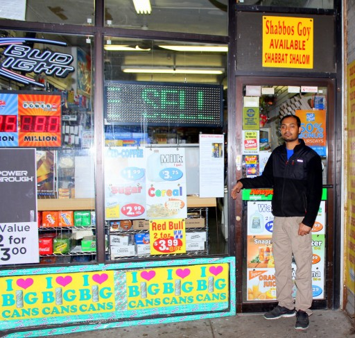 "Hindu convenience store for  ""Shabbos Goy AVAILABLE SHABBAT SHALOM."""