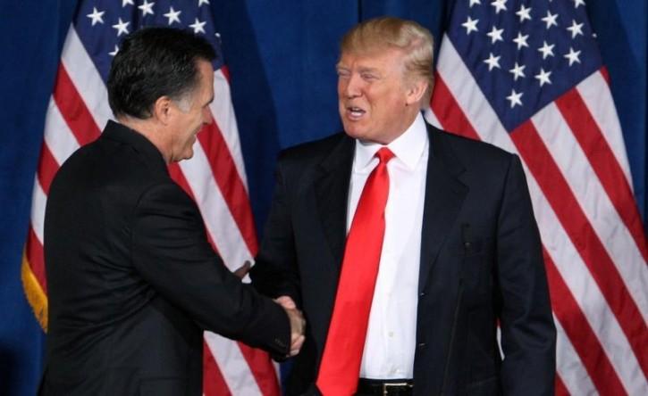Washington - Former GOP presidential nominee Mitt Romney said Thursday ...