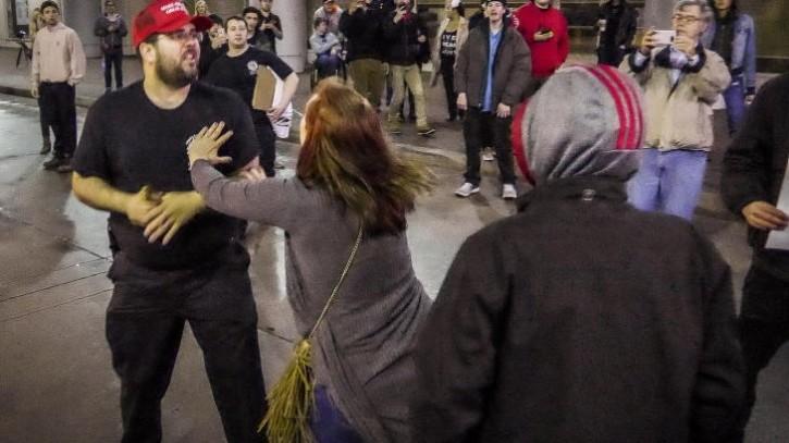 a Protester Assaulting Heimbach