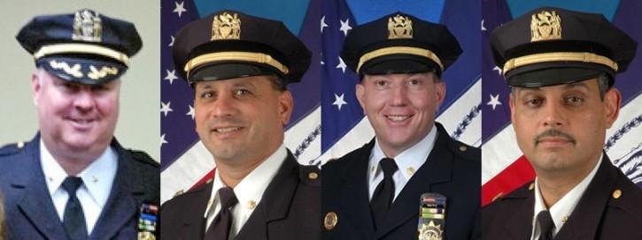 L-R: Deputy Chief Michael Harrington, Deputy Chief Eric Rodriguez, Deputy Inspector James Grant, Deputy Chief David Colon.