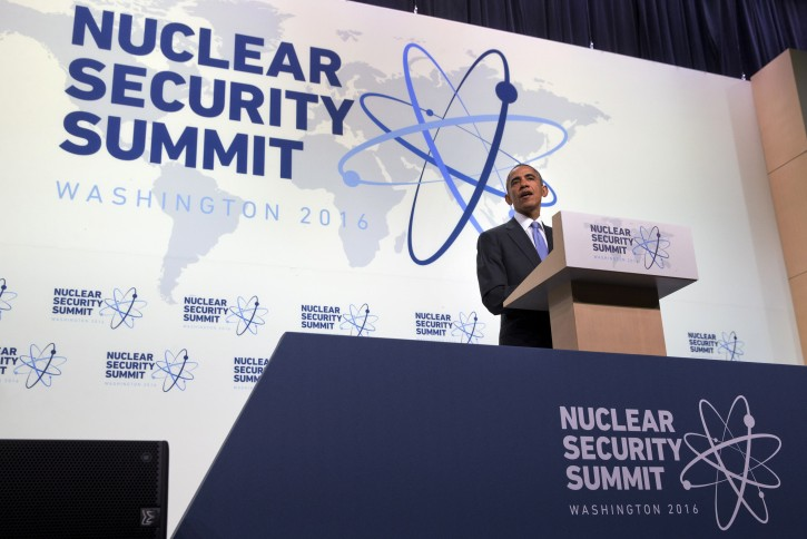President Barack Obama speaks during a news conference at the conclusion of the Nuclear Security Summit in Washington, Friday, April 1, 2016. (AP Photo/Jacquelyn Martin)