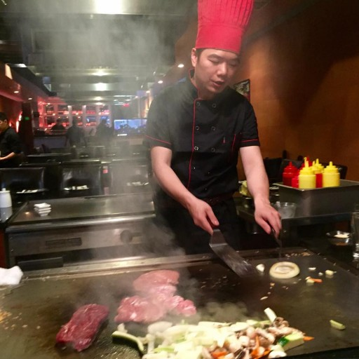 Chef Sang preparing food for Ari at his request.