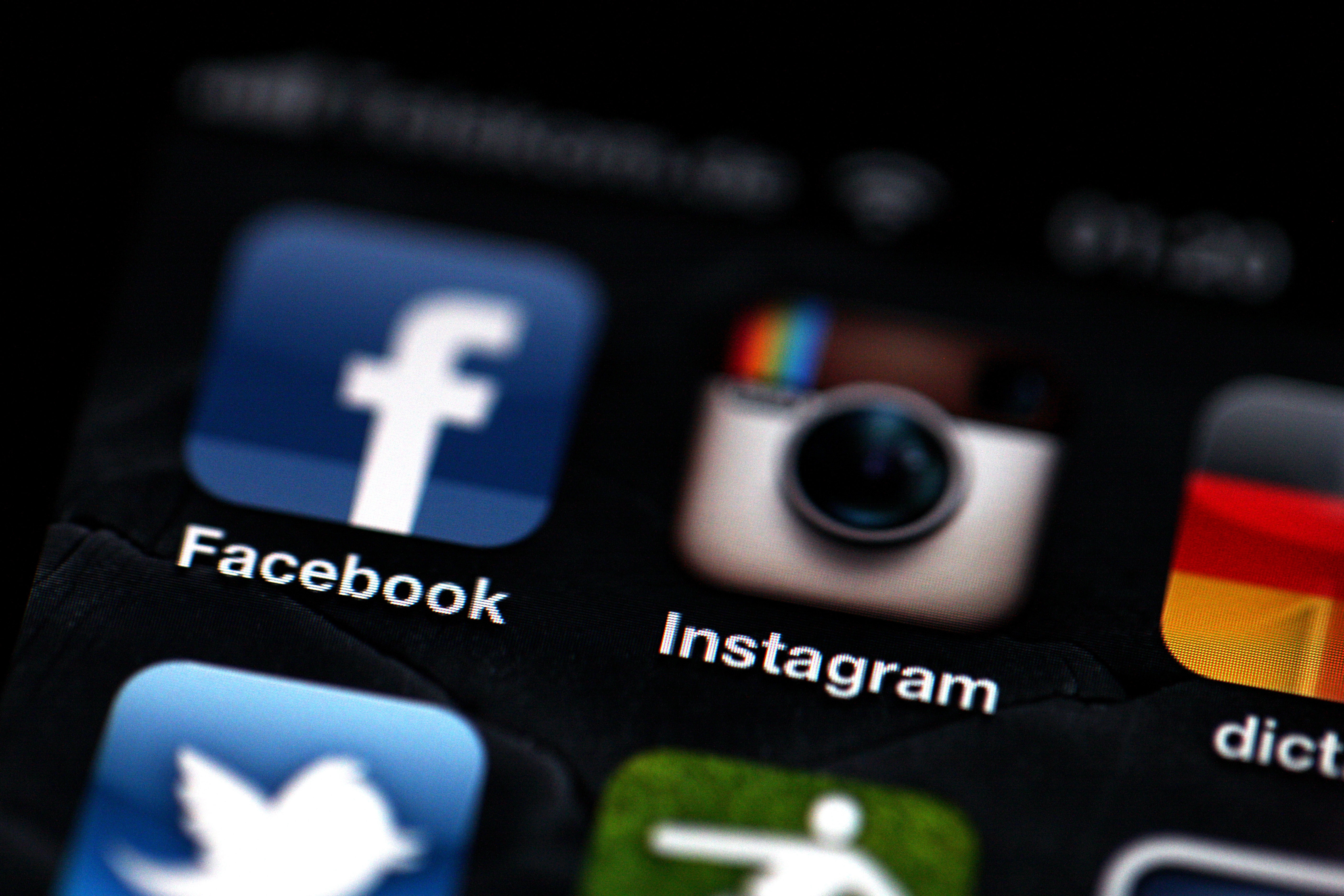 File A File Picture Dated 09 April 2012 Shows The Logos Of The Facebook (  How To Add Multiple Accounts On Instagram Brandsynario