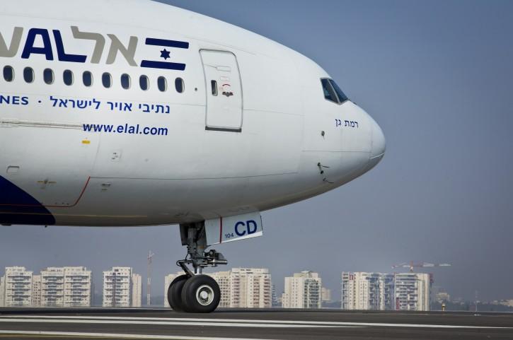 FILE - El Al flight seen at the airstrip at the Ben Gurion International Airport. November 06, 2013. Photo by Moshe Shai/FLASH90