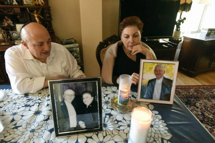 Rafael Enukashvili, son of Ruben Enukashvili, and Nana Yenukashvili, daughter of Ruben Enukashvili, inside their father's apartment in Fort Lee on Tuesday, May 31, 2016. (Courtesy: Northjersey.com/Viorel Florescu)