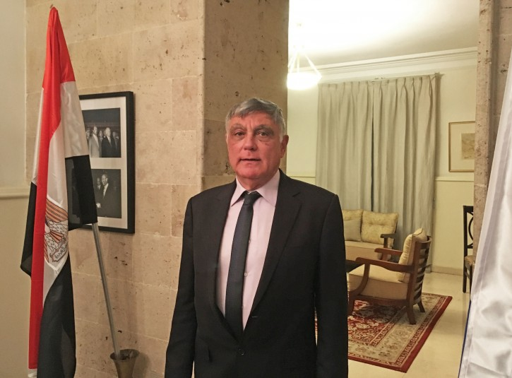 In this Tuesday, June 21, 2016 photo, Israel's Ambassador to Egypt, Haim Koren, stands inside the residence at the Embassy compound in the Cairo suburb of Maadi, where he has been posted since 2014. After decades of wars followed by years of uneasy peace, Israel has emerged as a discrete but key ally to Egypt's President Abdel-Fattah el-Sissi, who along with powerhouse Saudi Arabia and the Emirates has sought to define friend and foe together in the region during troubled times. (AP Photo/Brian Rohan)