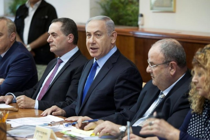 Israeli Prime Minister Benjamin Netanyahu attends the weekly cabinet meeting in Jerusalem July 10, 2016. REUTERS/Dan Balilty/Pool