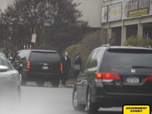 FILE - Rabbi Zalman Beck and state Sen. Malcolm Smith outside L'chaim Manor in Monsey on April 26, 2012. (Photo: FBI photo)