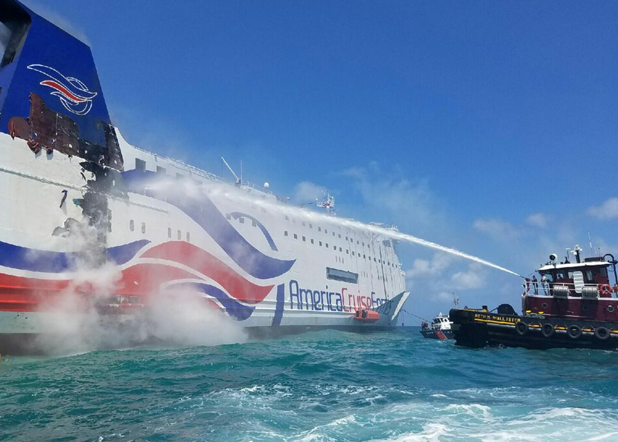 Puerto Rico Passengers On Burning Ship Near Puerto Rico Recall Ordeal