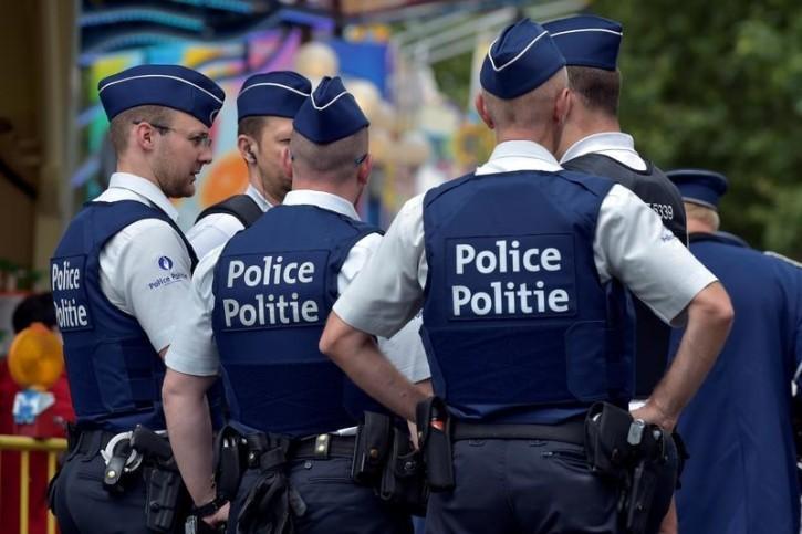 FILE - Belgian police officers patrol  in Brussels, Belgium, July 16, 2016. REUTERS/Eric Vidal