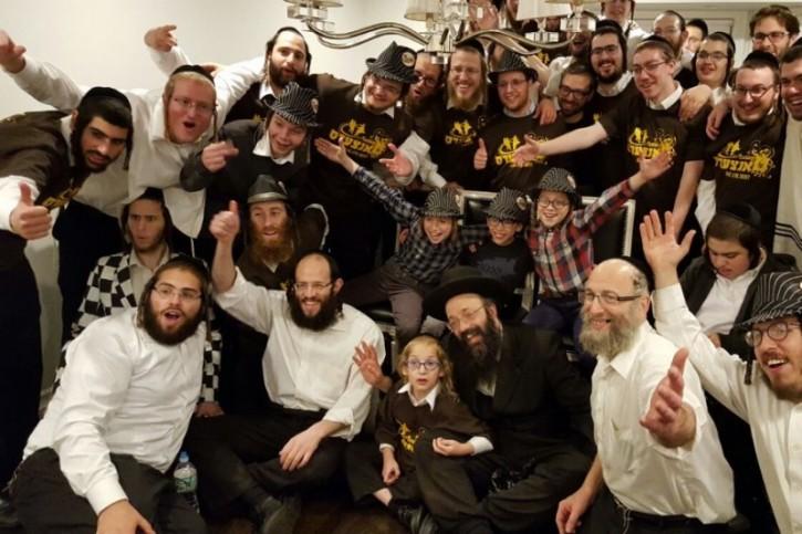 Zishe Rosenblum first row 2nd from left