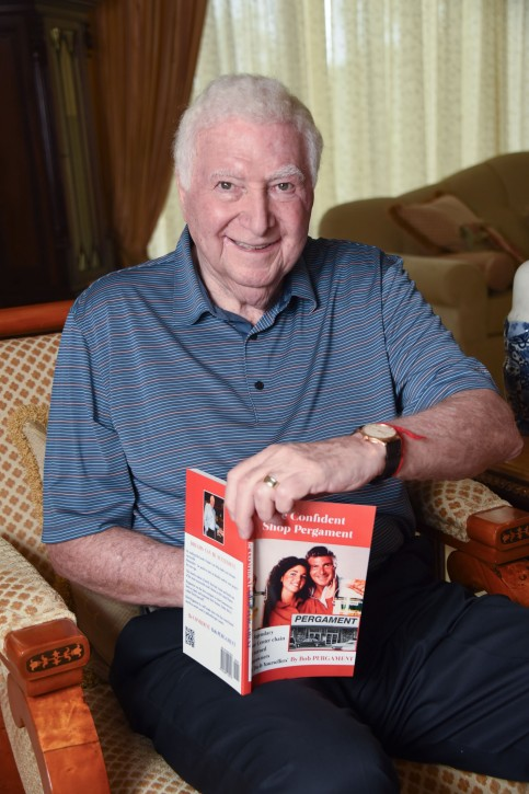 Bob Pergament at his home on Tuesday, Dec. 13, 2016 at St. Andrews Country Club in Boca Raton, Fla.