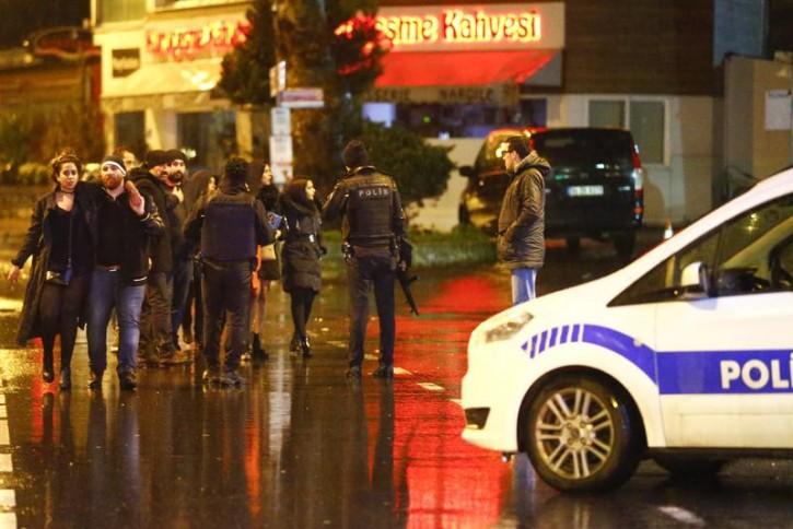 Police secure area near an Istanbul nightclub, Turkey, January 1, 2017. REUTERS/Osman Orsal -