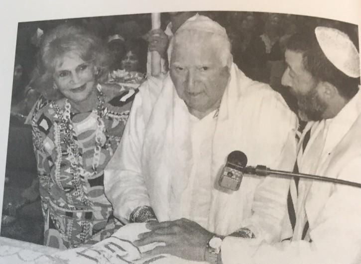 FILE - Bob celebrating his Bar Mitzvah at the age of 83 at the Kabbalah center in Boca Raton